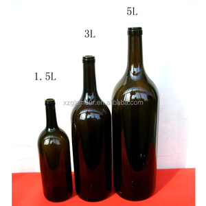 1500ml 1.5L large capacity clear glass wine bottle cheap price