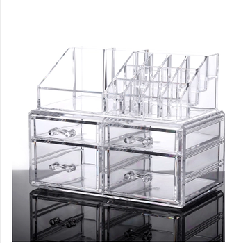 Large Clear Acrylic Makeup Organizer With Drawer