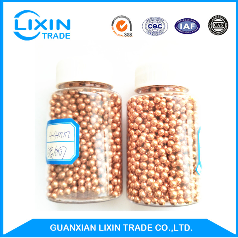 G1000 4.4mm high-quality copper plated steel ball with ISO
