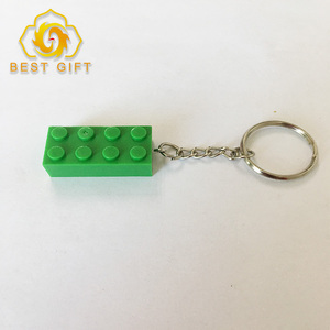 Newest Design Decorative Plastic Lego Brick Keychain