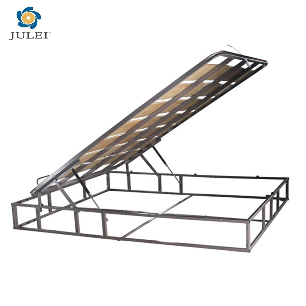 Metal Storage Bed Frame Structure With Gas Lift Buy Storage Bed