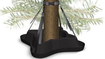 Elf Logic - Christmas Tree Stand - Adjustable Heavy Duty Large Christmas Tree Stand - Made For Real Christmas or Holiday Trees up to 8ft Tall - Christmas Tree Stand Tray Included