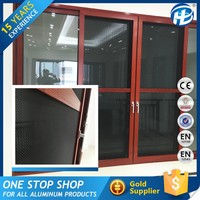 Alibaba China Manufacturer Stainless Steel Mesh Roller Fly Screen Up-Down Sliding Door