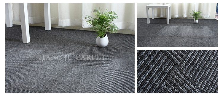 Nice Specifications For Best Price Commercial Design Stripe Office Carpet Tiles  50x50 Cm