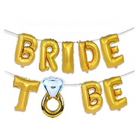 Bachelorette Celebration Bride to Be Banner Letters Balloons Engagement Party Decorations