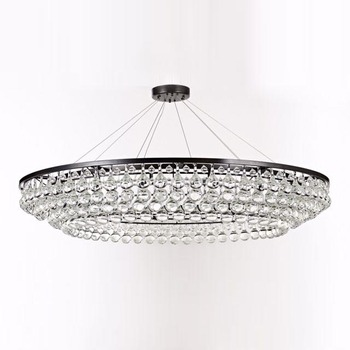 Three circle rainy drop crystal nickel modern chandeliercustom made lighting design for bahrain