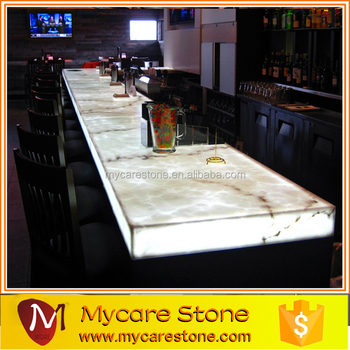 Polished Backlit White Onyx Countertop And Bar Top Price