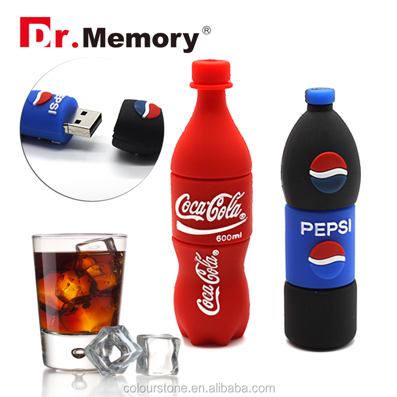 Dr.memory wholesale bulk silicone cola bottle shape usb flash drive 1-32 GB