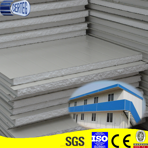 Building material can replace traditional brick 100mm insulation eps sandwich wall panel with good price