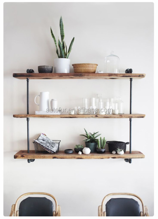 Urban Style Industrial Decorative DIY Metal Pipe Shelves Storage Shelves