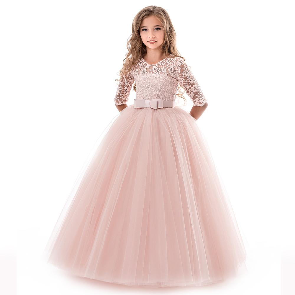 High grade kids beaded puffy dress girls party dresses children
