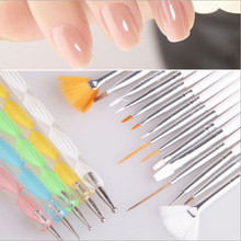 20pcs Nail Art Design Dotting Painting Drawing UV Polish Brush Pen Tools Set Kit