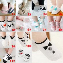 New Spring Summer Unisex Baby Short Cotton Sock Boy Girl Cute Pattern Floor Socks S M