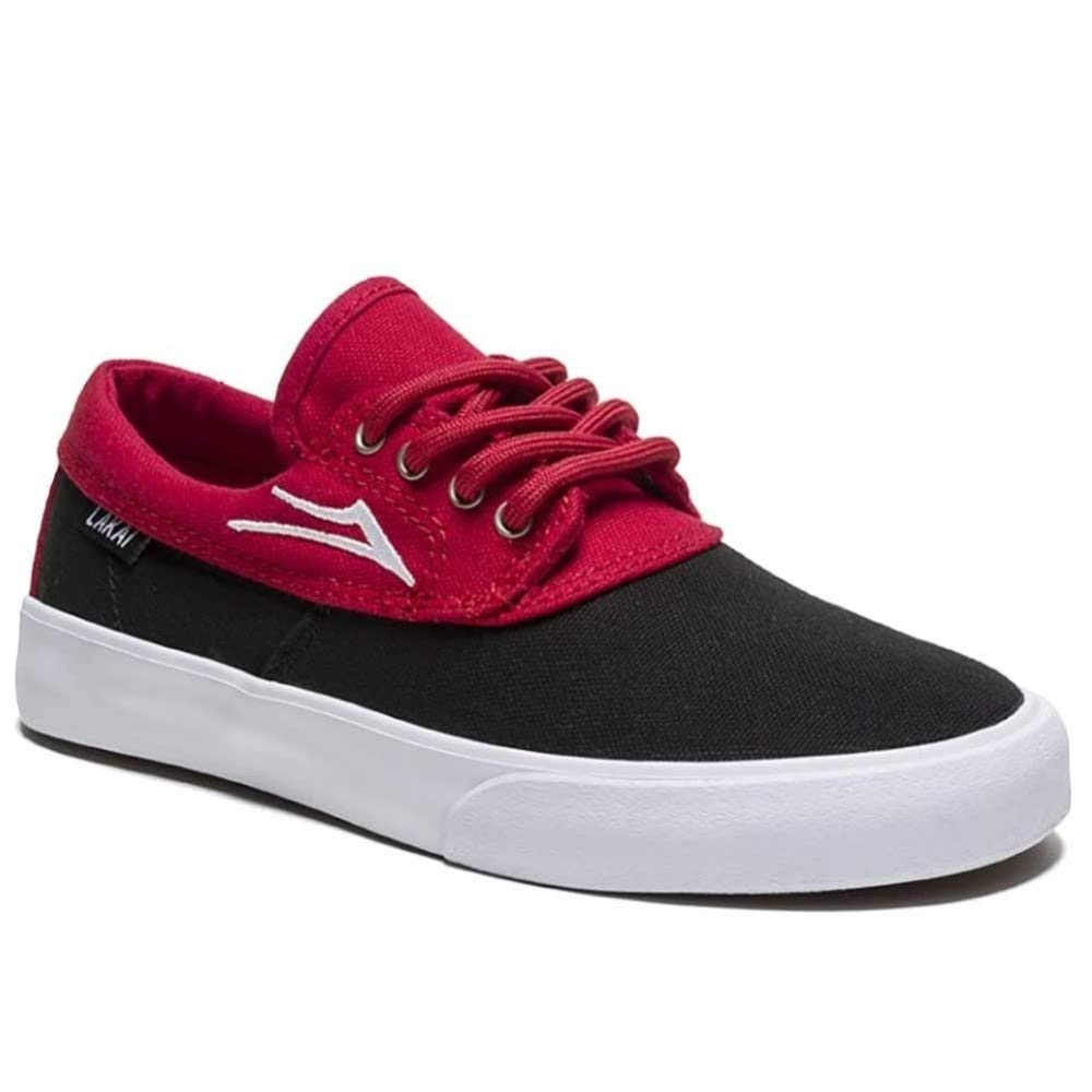 Get Quotations · Lakai Camby Kids Skate Shoes in Black Red Canvas 8c4f3e78b