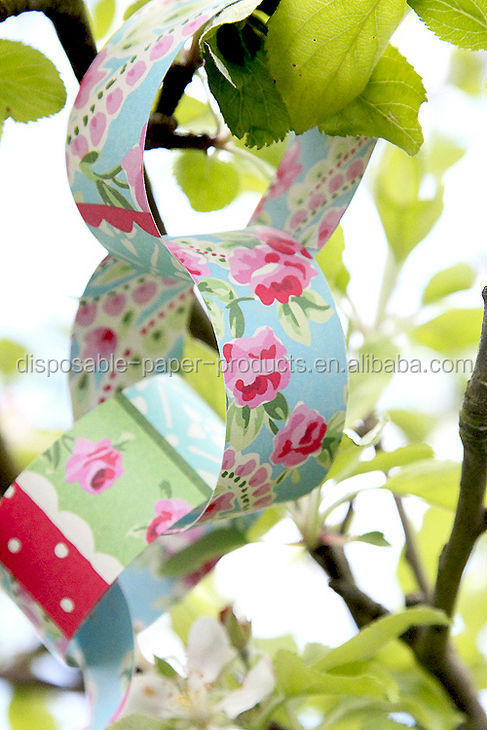 Paisley paper chain Paper Chain Garland Polka Dots SPOTS Paper Chain Decor Assorted Colours Baby Shower Birthday Party