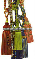 fashion tassel curtain tieback/holder for window and home deco