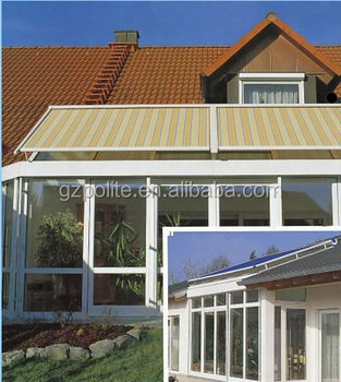 Waterproof Outdoor Curtains Sunshade Protection System With Remote Control