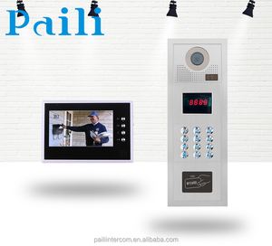 Best selling video door phone with rain cover door bell CAT-5 multi apartment video intercom 2016 newest Handsfree Color Wired c