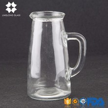 hot sale mouth blown clear glass water carafe