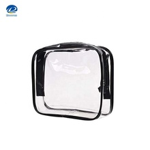 Travel Luggage Pouch Custom Clear Transparent PVC Travel Toiletry Bag Make Up Cosmetic Bag