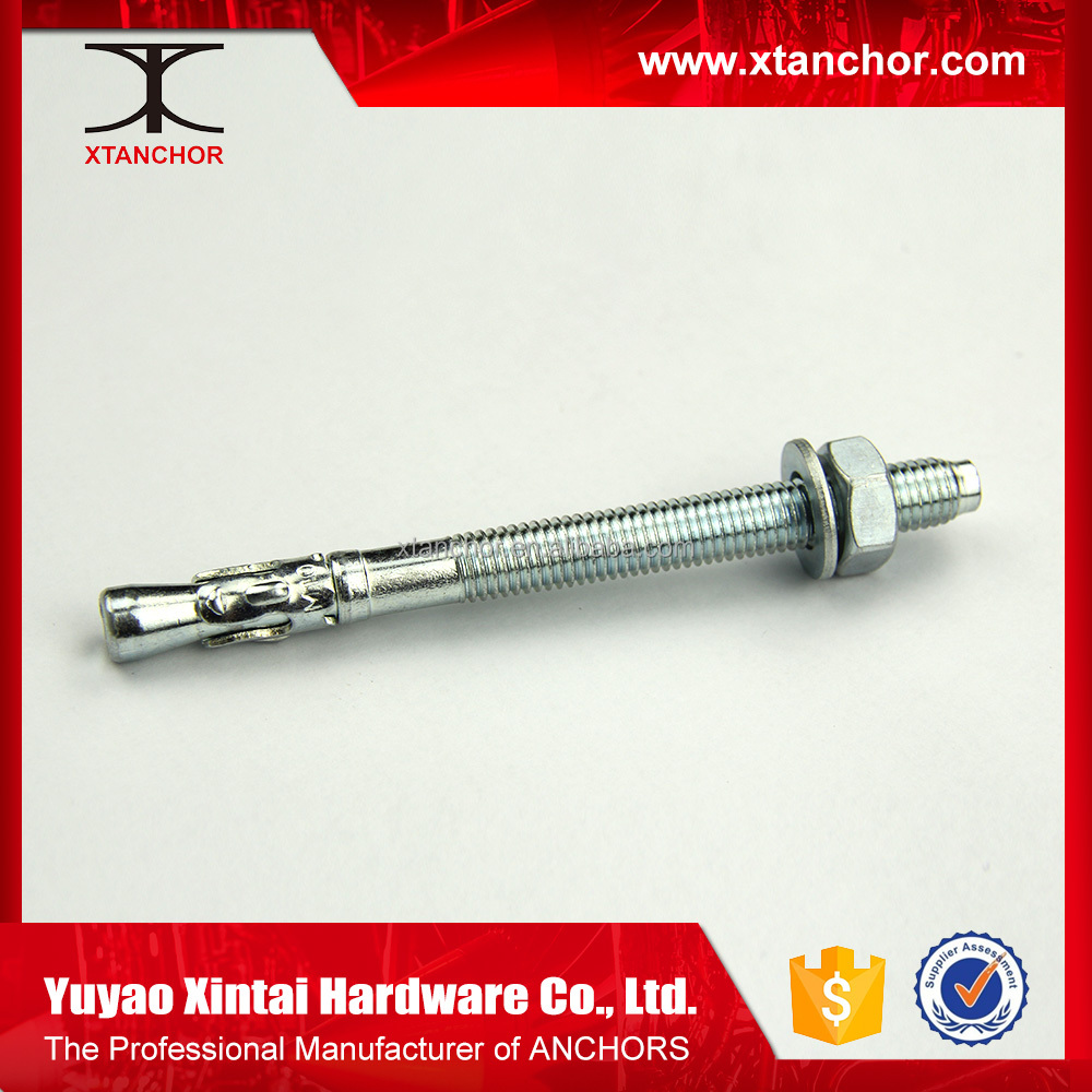 China Supplier hardware fastener steel Wedge Anchors bolts m36 wedge anchor