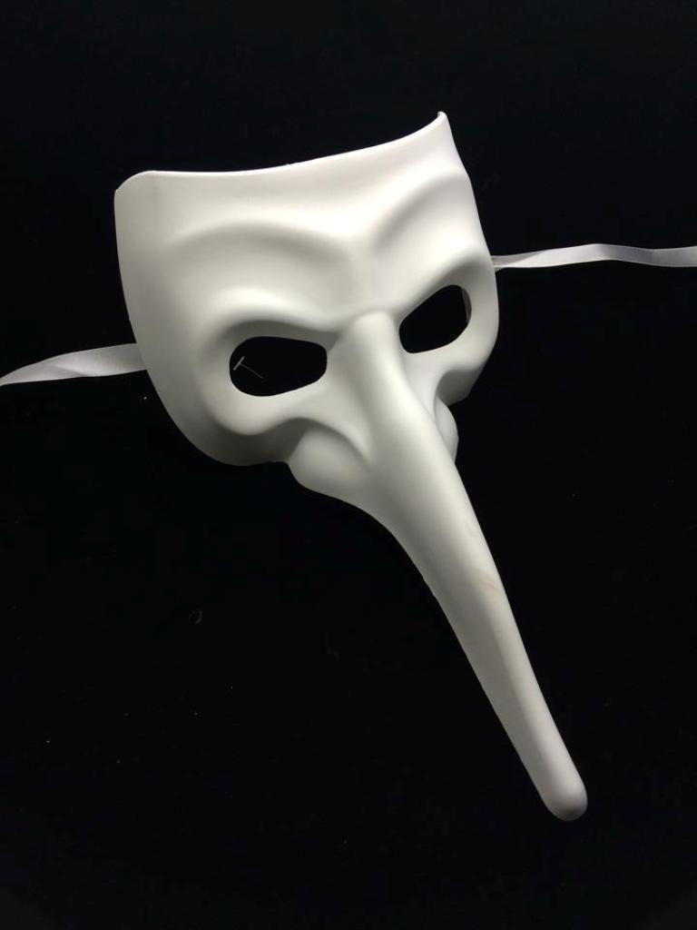 Petite Blank Masquerade Mask Venetian Cosplay Costume Party DIY Mask