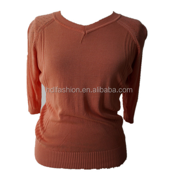 China supplier popular pullover ladies summer knitwear