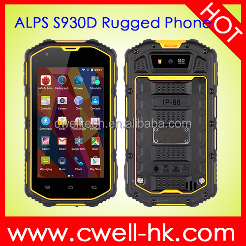 wholesale 4 inch MTK6580 quad core 2400mAh big battery IP68 waterproof rugged telephone mobile