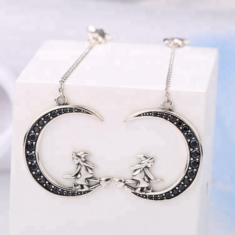 736f404a5 Zhefan Jewelry 2018 drop earrings korea drop cz earring broom witchery  earring