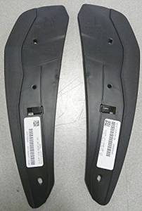 OEM Factory Genuine Stock 2010 2011 2012 Ford Mustang Shelby GT500 Flat Mud Flaps Splash Guards 2 pc. Set Rear Back Black
