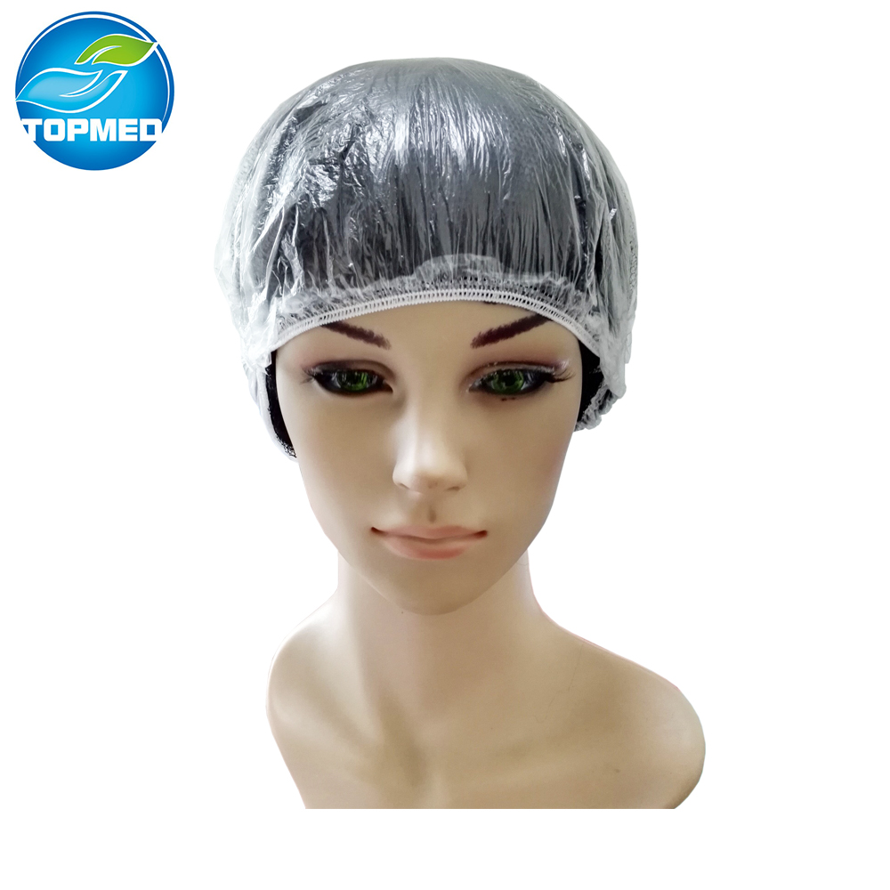 New Disposable Shower Cap Bathing Elastic Clear Hair Care Protector Hat Mask Cap