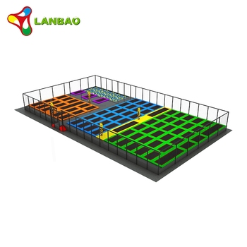 Indoor children playground professional gymnastics adult trampoline with foam pit