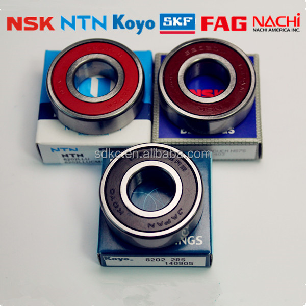 Original Japan NTN NSK KOYO Price List Cheap <strong>Bearing</strong> 6202 ZZ 2RS Deep Groove Ball <strong>Bearing</strong> Size 15*35*11mm