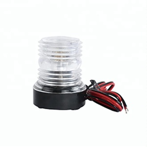 White LED plastic marine boat navigation signal anchor light