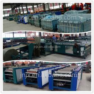 Automatic pp woven bag making machine include cutting sewing printing and collecting bags