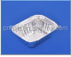 Rectangular Disposable Aluminium Foil Food Container 250ml