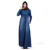 Zakiyyah ZK013 2019 Fashion Muslim Dress Women  Denim Fabric Islamic Clothing Slim Muslim Dress long Abaya Dress With Zip