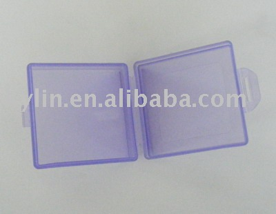 square shape plastic pill box with one cabin