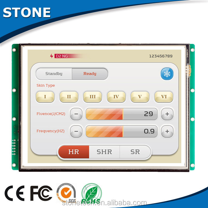 LCD display module with bottom program support MP3/MP4 +mother board with CPU/driver+USB port for batch download