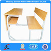 standard size adult wooden classic kids study combo attached double student desk and chair