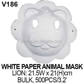 3d kid craft lion white paper mask buy kids crafts animal masks