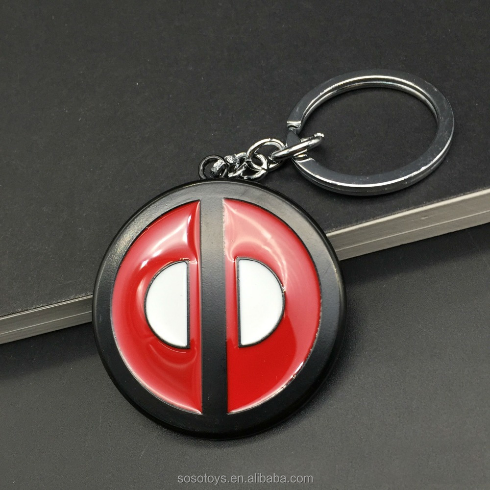 Yeni Deadpool Maske Modeli Metal Anahtarlık Anahtarlık Comics Araba