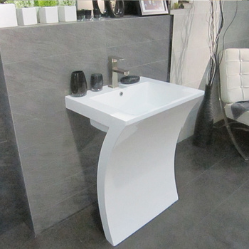 New Item Dining Room White Pedestal Wash Basin Round Sink With Low Price