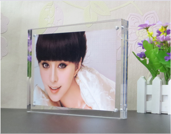 2016 new style acrylic photofunia/photo frame,easy install,double sided vision
