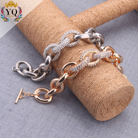 BYQ-00370 simple fashionable elegant gold/silver plated charm crystal wrap bracelet for girls
