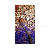 Extra Large painting for wall hanging pre painted oil painting metal 3d painting art