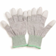 Antistatic ESD PU Tip Gloves With Carbon Fingertips Safety Work Gloves