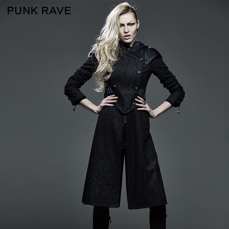 Y-582 Killer Studded Leather Punk Coat Jacket With Hood And Bullet ...