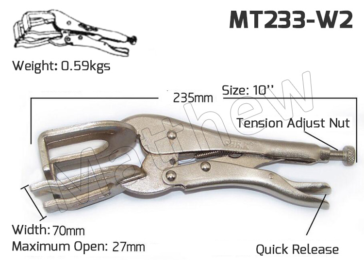 10 inch long Jaw Locking Pliers for Welding