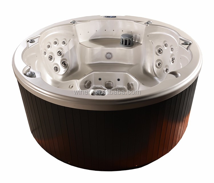 CE SAA approved indoor outdoor balboa system acrylic whirlpool round spa bath hottub with covers